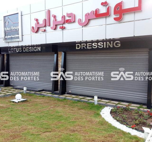 Rideaux métalliques Tunis Design